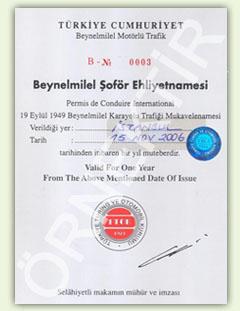 Beynelminel Şöför Ehliyeti