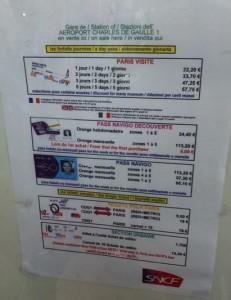 Paris Metro Fiyatları