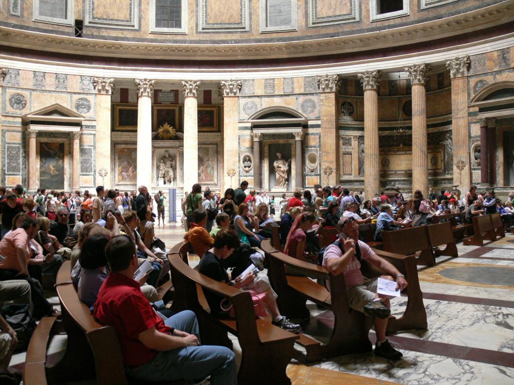 Pantheon Tapınağının içi