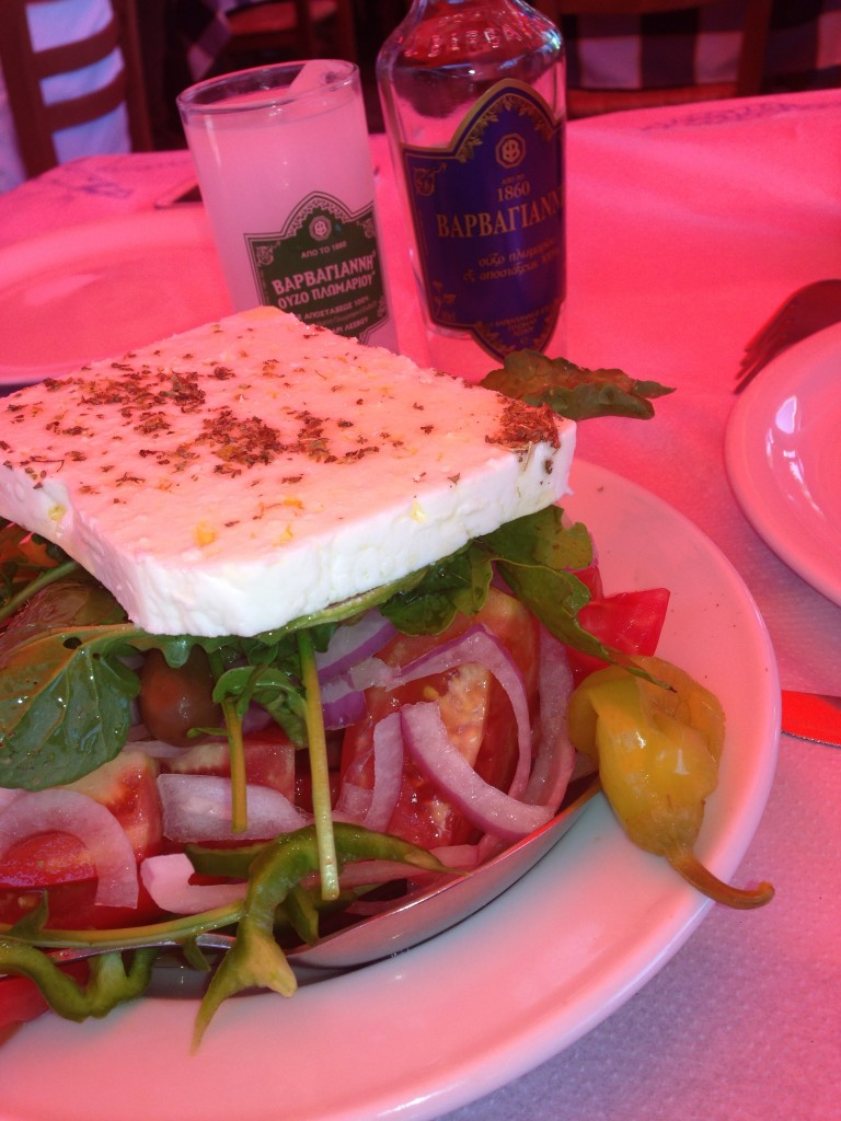 Uzo Barbayani ve Greek Salad