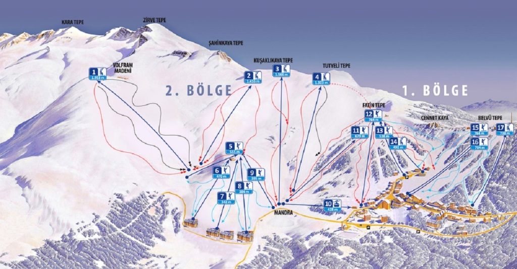 Uludağ-Ski-Resort-Turkey-trail-map