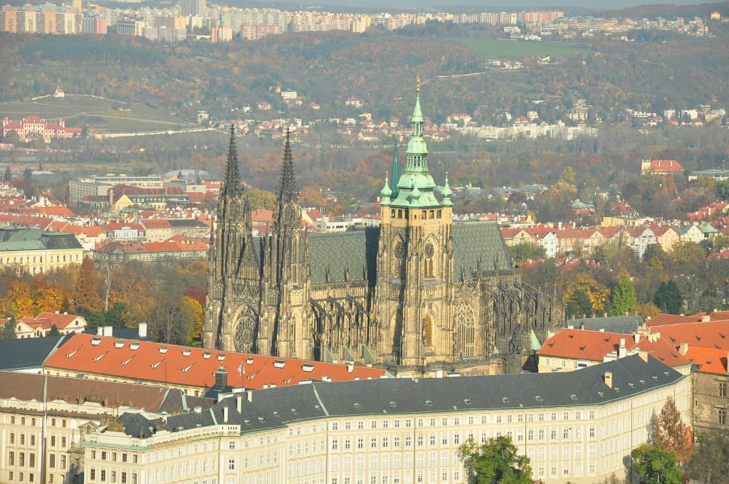 Prag Kalesi (Fotoğrafı Petrin Kulesinden çektim)