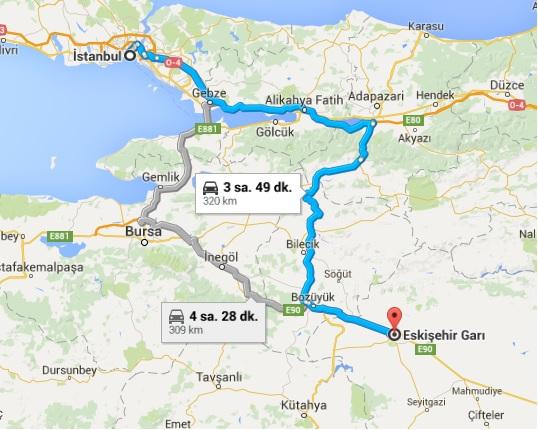 İstanbul_Eskişehir Yol Haritası