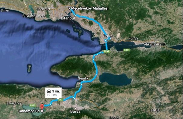 İstanbul_Gölyazı Ulaşım Haritası