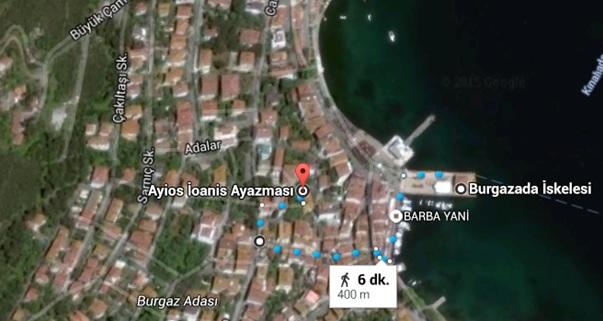 Burgazada_Aya Yani Kilise Haritası