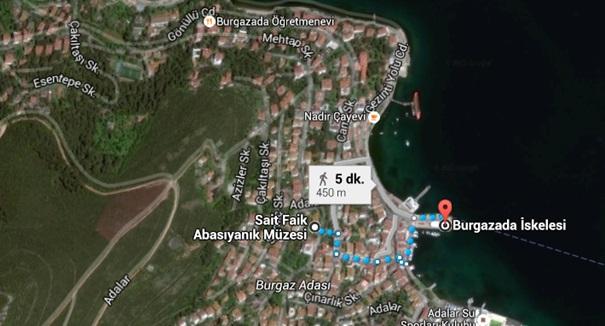 Burgazada_Sait Faik Abasıyanık Müzesi Harita