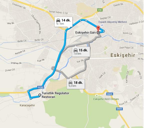 Eskişehir Garı_Regülatör Parkı Harita
