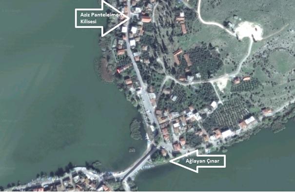 Gölyazı Köyü Ağlayan Çınar_Aziz Panteleimon Kilise Harita Görseli