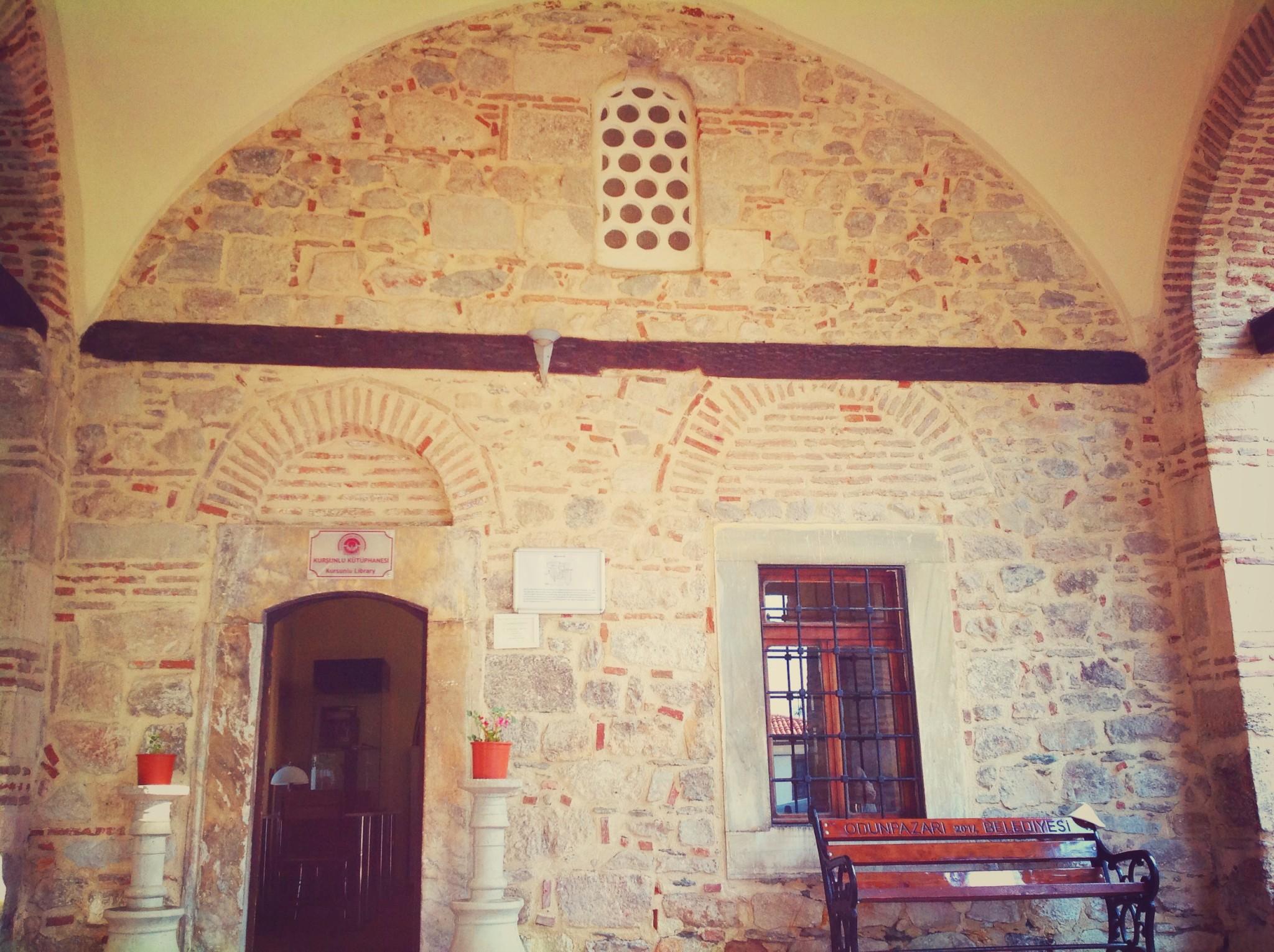 Eskişehir Kurşunlu Cami Külliye Kurşunlu Kütüphanesi Girişi