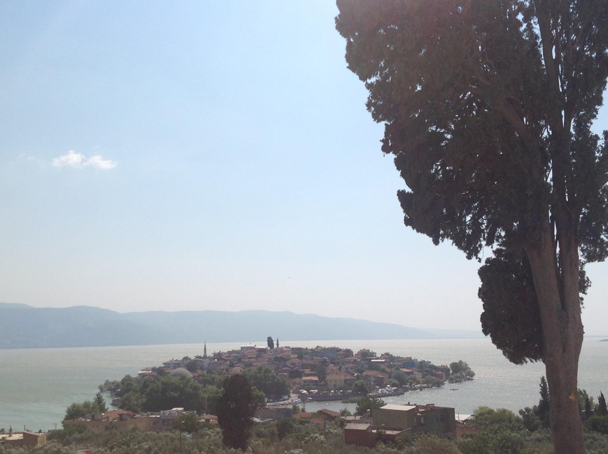 Tepeden Gölyazı Köyü Manzarası