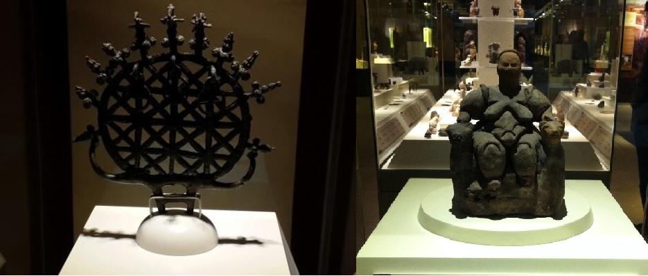 Ankara Anadolu Medeniyetler Müzesi Güneş Disk ve Tanrıça Figürini