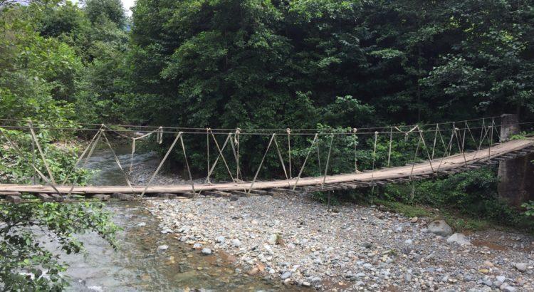 çayeli ahşap ip köprü
