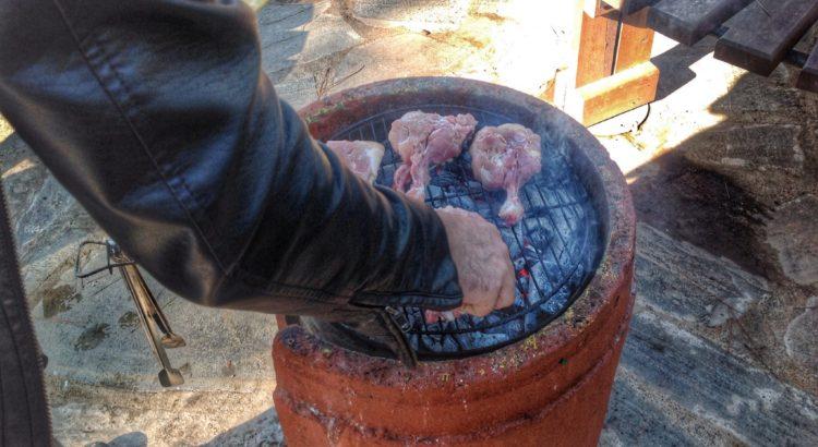 Mangala etlerimizi yerleştiriyoruz