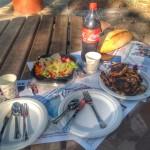 Afiyetle hazırladığımız masamızda yiyoruz :)